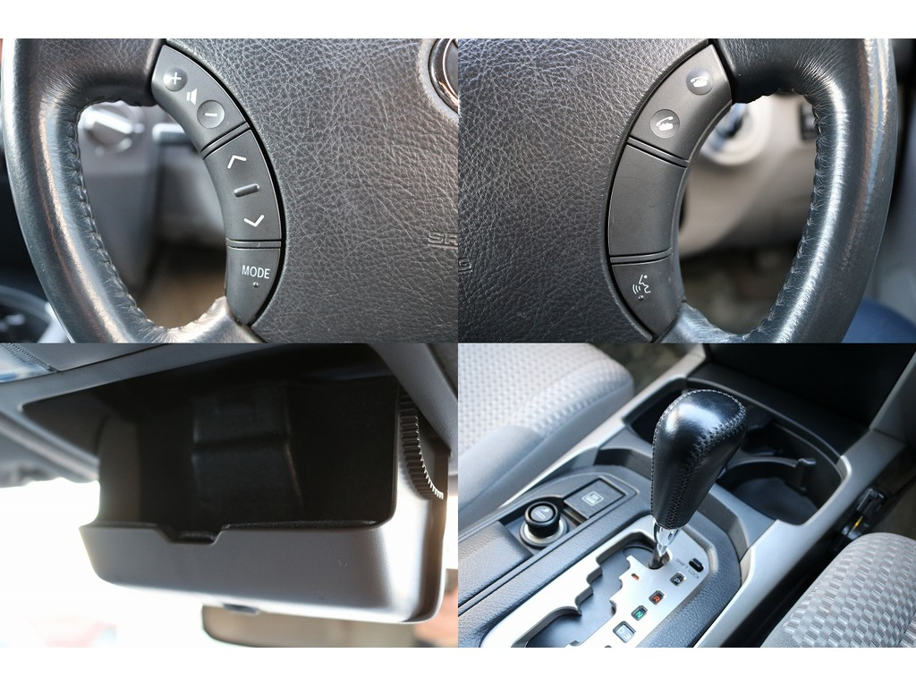 ステアリングスイッチもナビと連動しています!脇見運転にならずに、手元で音量調節や電話などにも出られます!