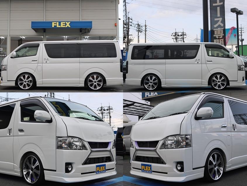 カスタム総額260万円以上! | トヨタ ハイエースバン 2.0 スーパーGL ダークプライム ロングボディ