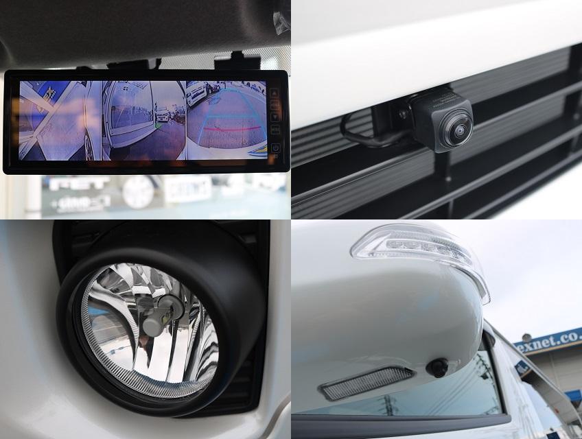 アルティメットLEDフォグ!フロント&サイドカメラを装着しルームミラーモニターへ映し出すことで補助ミラーを取り外しても公認取得OKです! | トヨタ ハイエースバン 2.0 スーパーGL ダークプライム ロングボディ