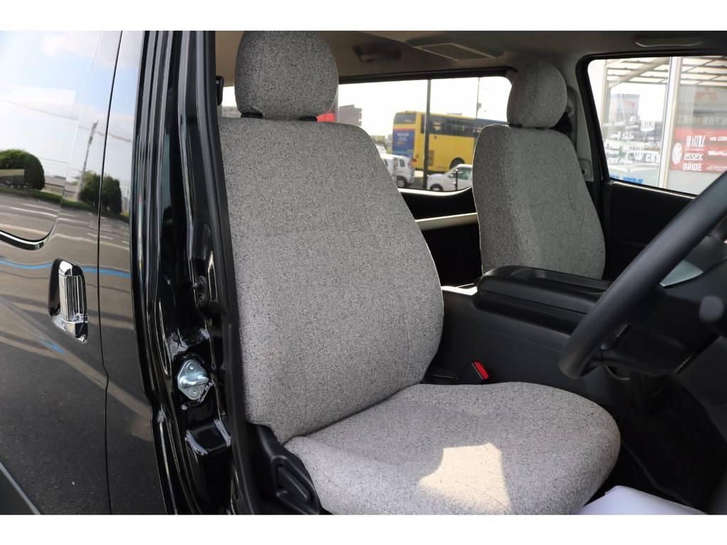専用シート生地張り替え済み!温かみのあるシート生地です! | トヨタ ハイエースバン 2.0 スーパーGL ロング ROOM CAR 03