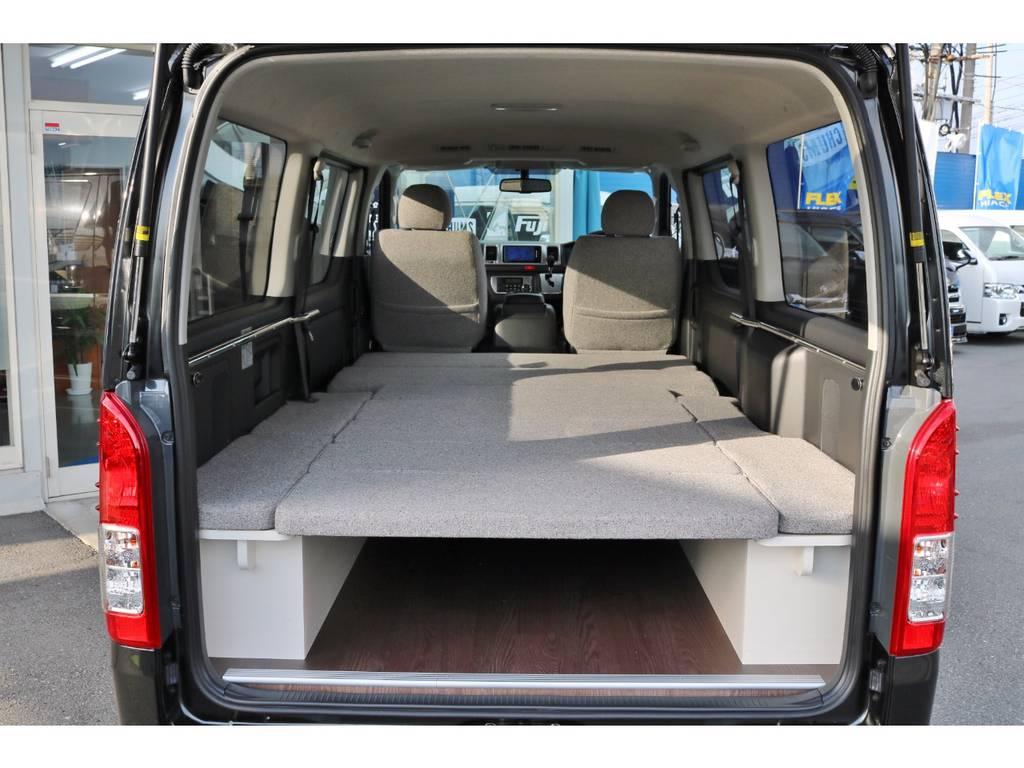 2段ベットの上部を外してある状態です。 | トヨタ ハイエースバン 2.0 スーパーGL ロング ROOM CAR 03