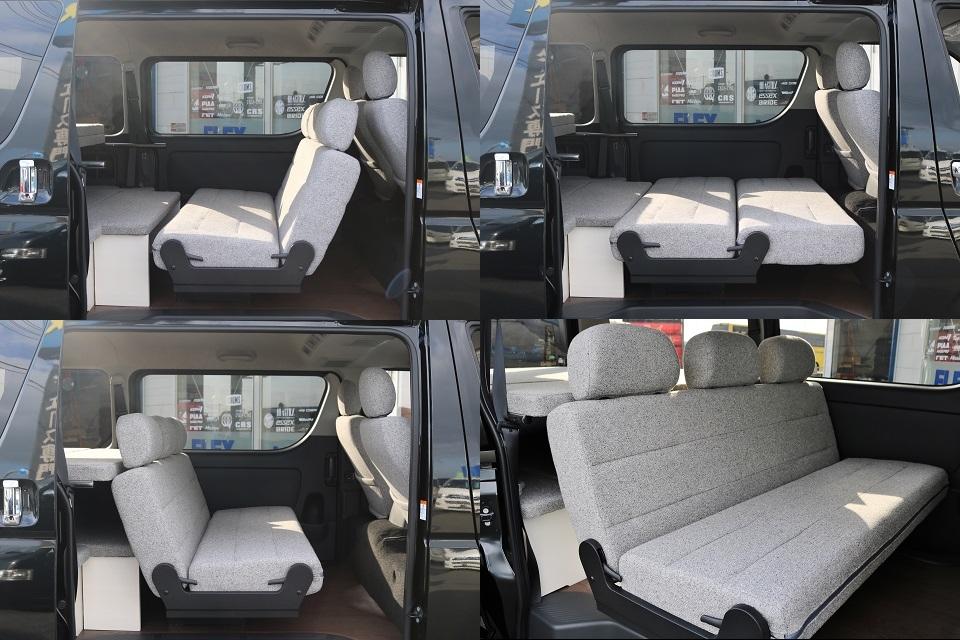 セカンドシートは対座もOK!スライドもします! | トヨタ ハイエースバン 2.0 スーパーGL ロング ROOM CAR 03