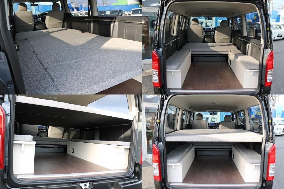 ベットを外せば十分なラゲッジスペースも確保できます! | トヨタ ハイエースバン 2.0 スーパーGL ロング ROOM CAR 03
