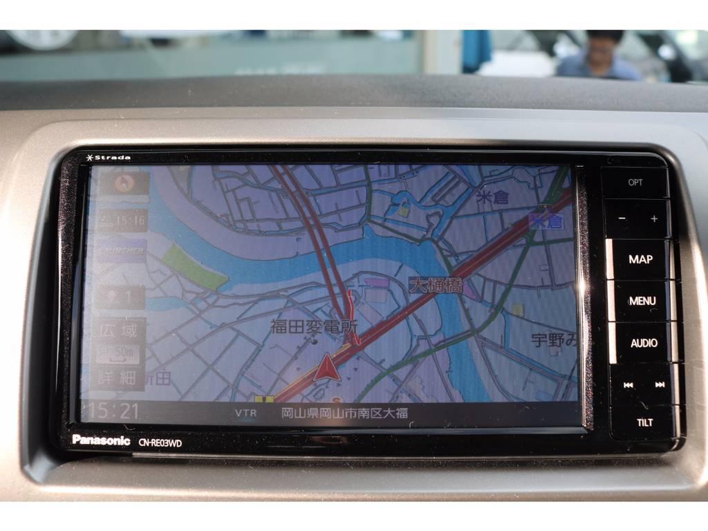 フルセグチューナー完備ナビ!CD録音&DVD再生も可能です! | トヨタ ハイエースバン 2.0 スーパーGL ロング ROOM CAR 03