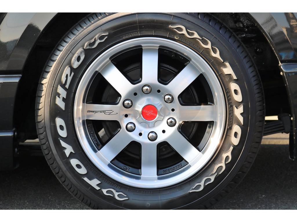 パンデミック16インチAW&H20ホワイトレタータイヤ! | トヨタ ハイエース 2.7 GL ロング ミドルルーフ