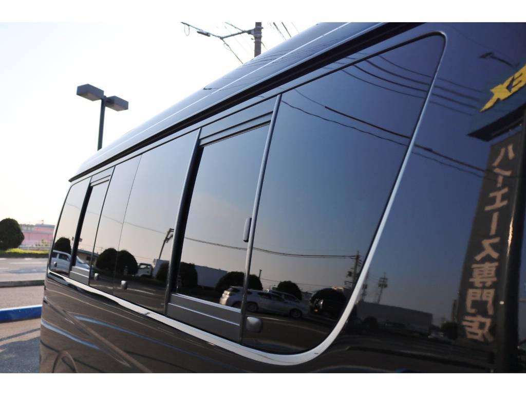 サイドガラス開閉式です。 | トヨタ ハイエース 2.7 GL ロング ミドルルーフ