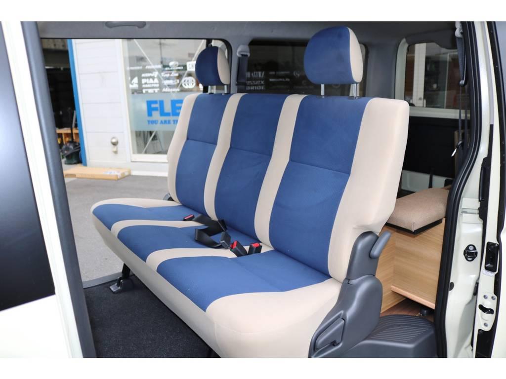 後席シートベルトは標準装備です。 | トヨタ ハイエースバン 2.0 スーパーGL ロング RELAXBASE TYPE1