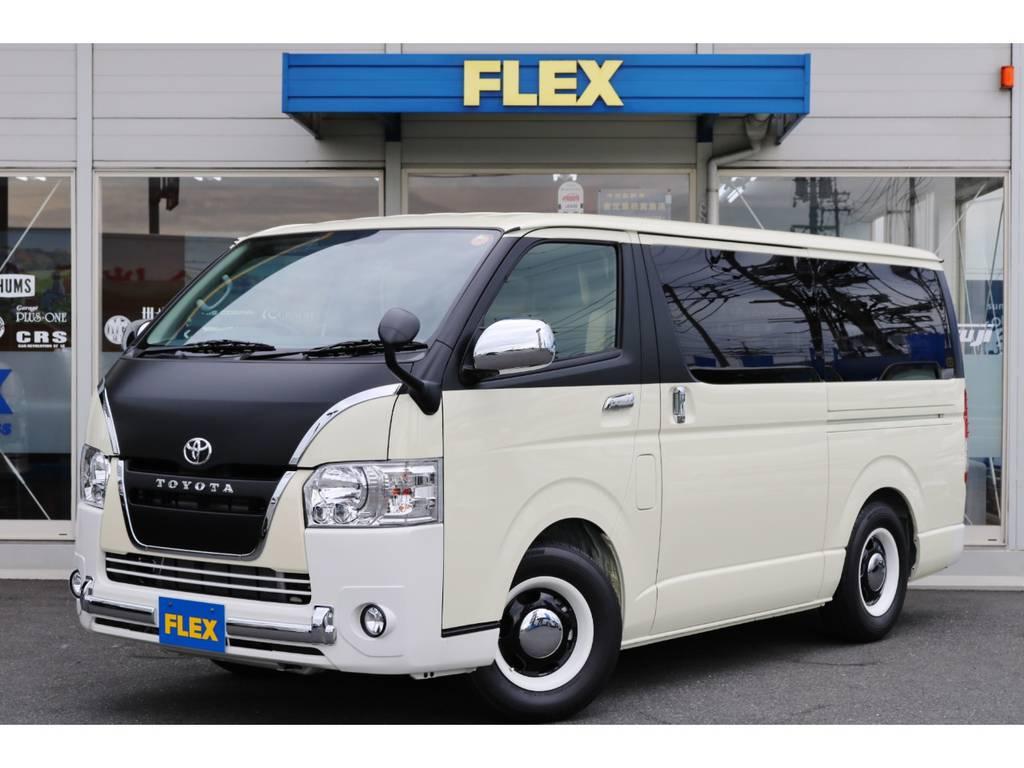 モデリスタ特別架装車両「リラクベース」入庫!FLEXオリジナルカスタマイズも施してあります!