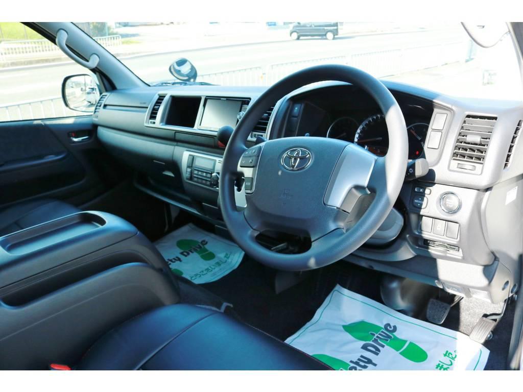 Wエアバッグ&ABS標準装備!インテリアパーツの追加カスタムもお任せください! | トヨタ ハイエース 2.7 GL ロング ミドルルーフ ラウンジ5α