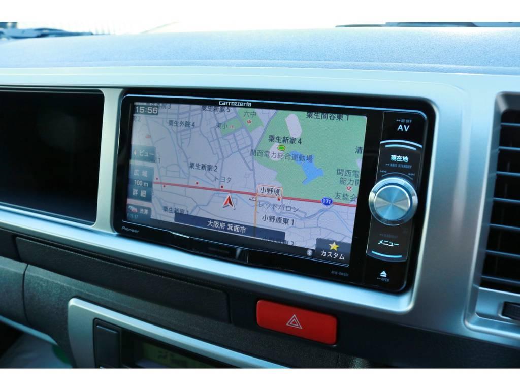 フルセグチューナー完備ナビ!CD録音機能&DVDビデオ再生OK! | トヨタ ハイエース 2.7 GL ロング ミドルルーフ ラウンジ5α