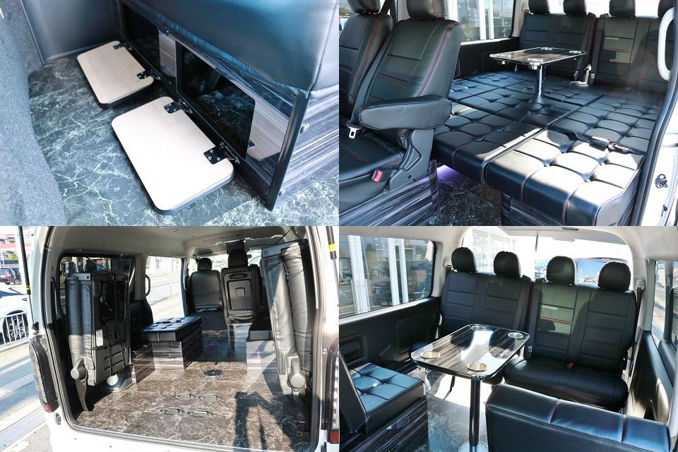 ラウンジ5αにはテーブルセットも標準装備です! | トヨタ ハイエース 2.7 GL ロング ミドルルーフ ラウンジ5α