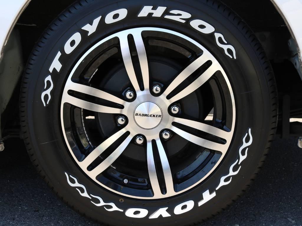 バッドラッカー16AW&H20ホワイトレタータイヤ! | トヨタ ハイエースバン 3.0 スーパーGL ロング ディーゼルターボ