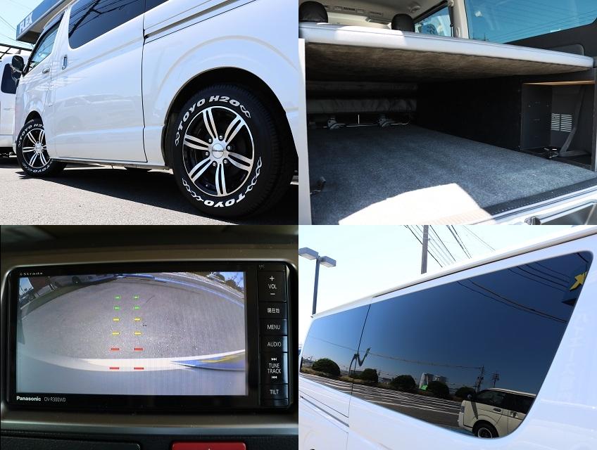カラーバックカメラ完備!スライドドアガラスはパワースライドドア付きなので固定式となります。 | トヨタ ハイエースバン 3.0 スーパーGL ロング ディーゼルターボ