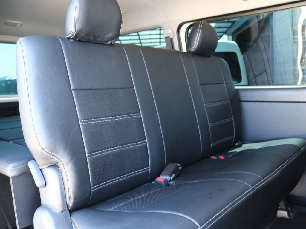 後席シートベルト完備! | トヨタ ハイエースバン 3.0 スーパーGL ロング ディーゼルターボ