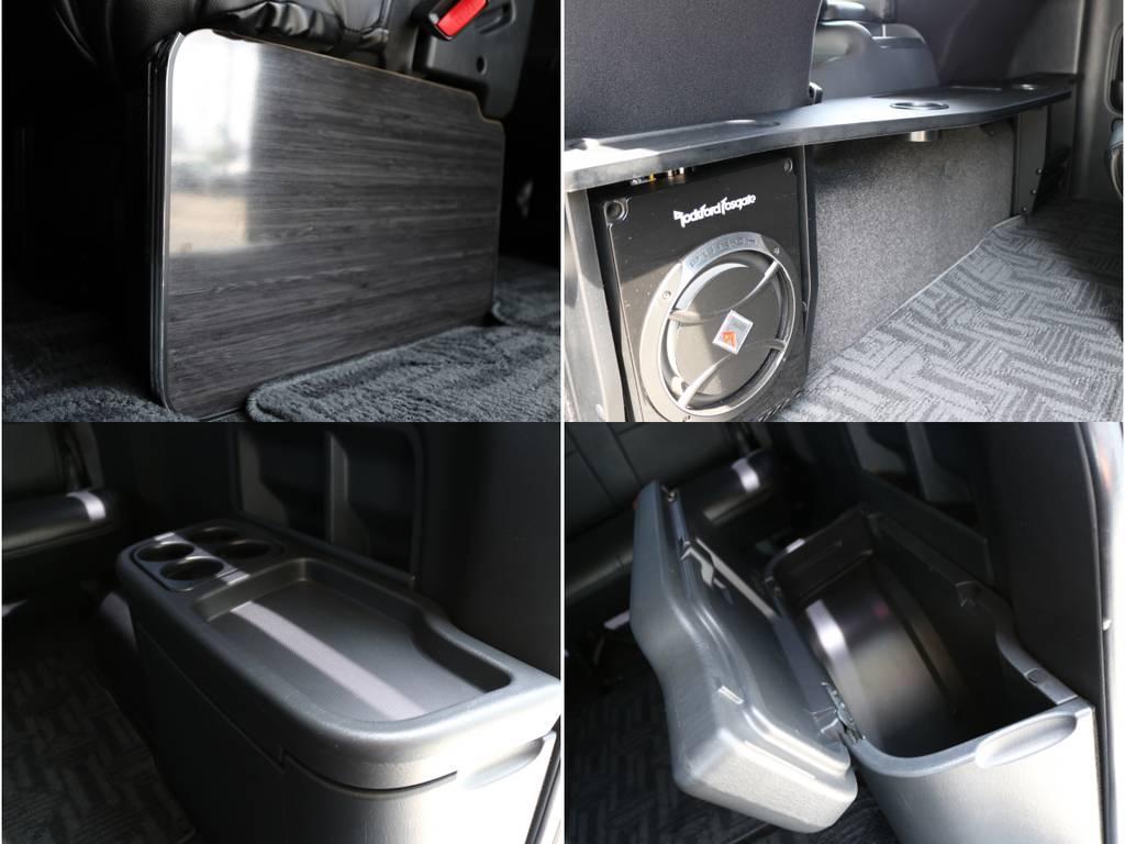 サブウーファー! | トヨタ ハイエース 2.7 GL ロング ミドルルーフ 4WD ナビ フリップ RECAROシート搭載