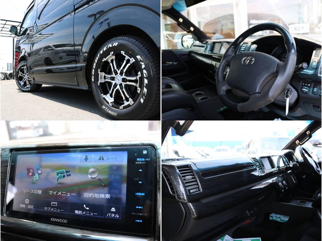 ナビも完備! | トヨタ ハイエース 2.7 GL ロング ミドルルーフ 4WD ナビ フリップ RECAROシート搭載