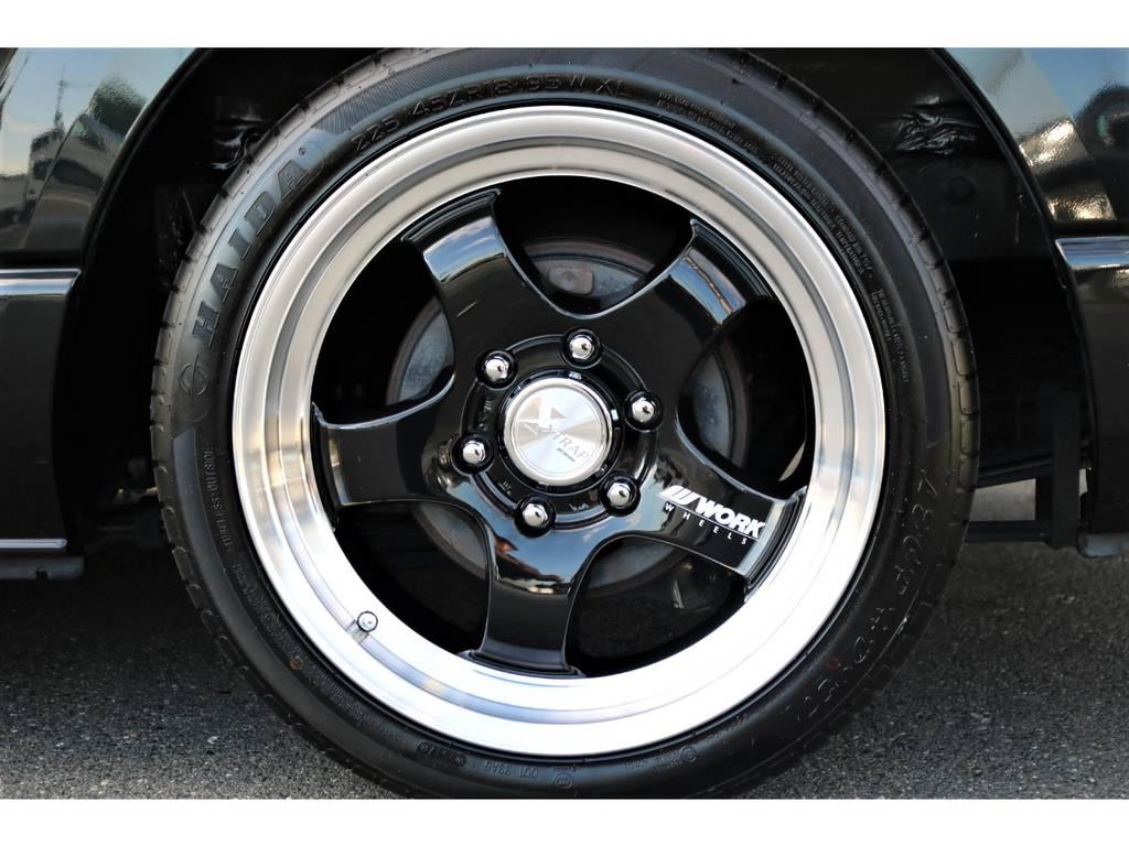 WORK18インチアルミホイール!黒でまとめ上げました! | トヨタ レジアスエース 3.0 スーパーGL ワイド ミドルルーフ ロングボディ ディーゼルターボ 新品ナビ 新品WORKアルミ