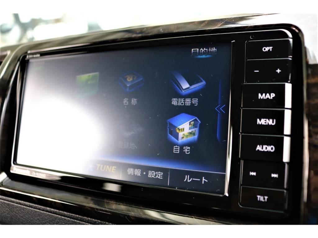ストラーダフルセグSDナビ搭載!音楽の録音も可能です♪ | トヨタ ハイエースバン 2.8 スーパーGL ダークプライムⅡ ロングボディ ディーゼルターボ ライトカスタムPKG 即納可能♪
