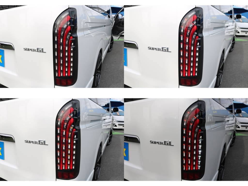 新品FLEXオリジナルLEDテールランプ☆大人気商品です! | トヨタ ハイエースバン 2.8 スーパーGL ダークプライムⅡ ロングボディ ディーゼルターボ ライトカスタムPKG 即納可能♪