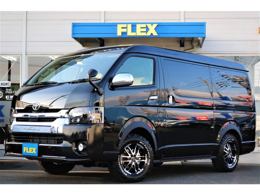 | トヨタ ハイエース 2.7 GL ロング ミドルルーフ 4WD FLEXオリジナル内装架装 アレンジR1