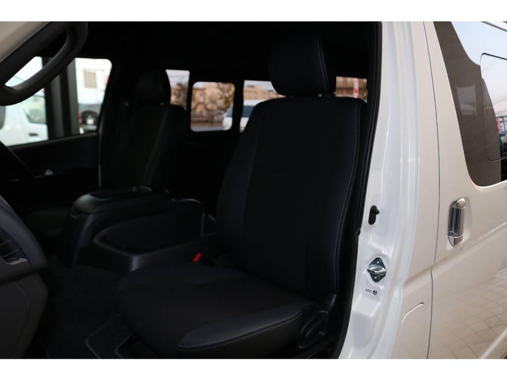 全席ハーフレザーシート♪ | トヨタ ハイエースバン 2.8 スーパーGL ダークプライムⅡワイド ミドルルーフ ロングボディ ディーゼルターボ
