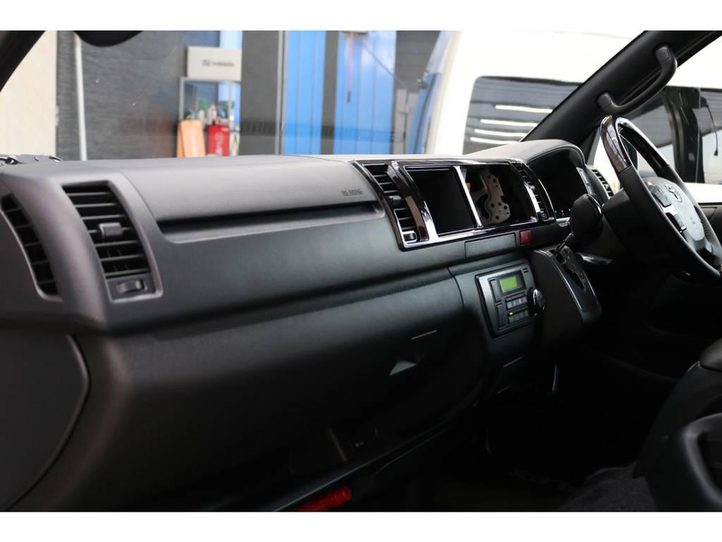 助手席エアバッグ・100Vコンセント装備♪   トヨタ ハイエースバン 2.8 スーパーGL ダークプライムⅡワイド ミドルルーフ ロングボディ ディーゼルターボ