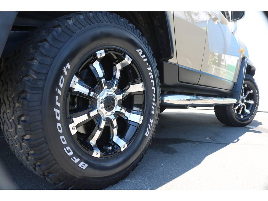 BFGタイヤは新品に交換致します! | トヨタ FJクルーザー 4.0 カラーパッケージ 4WD ユーザー様下取り直販♪