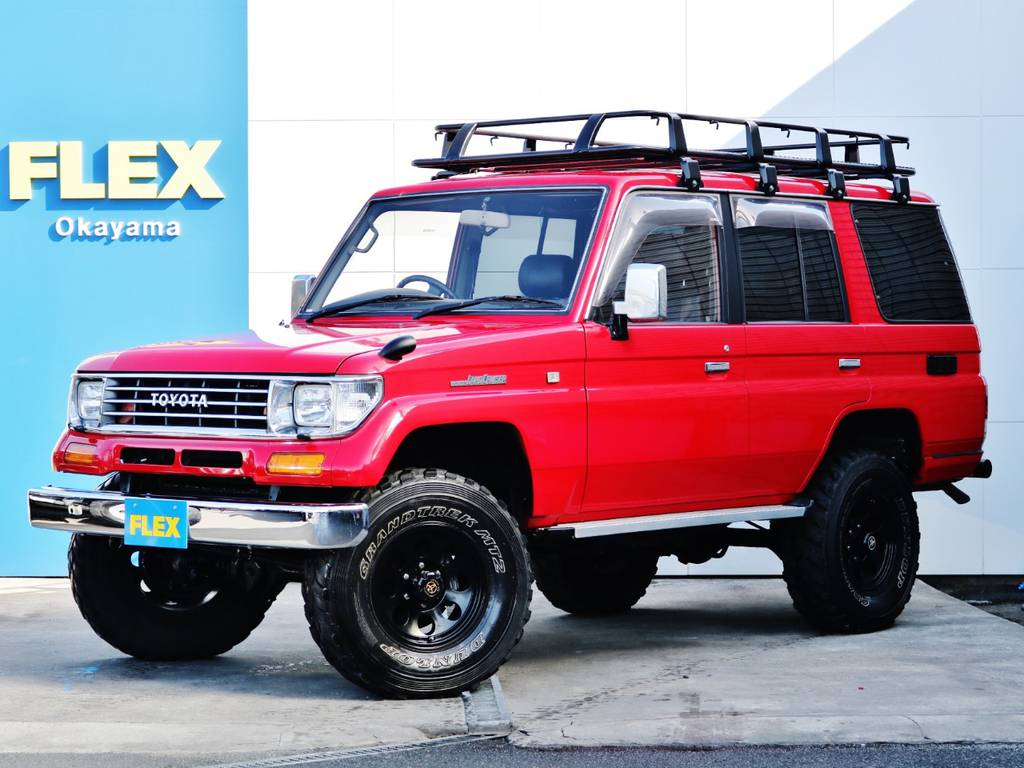 レッドワントーンオールペイント済78プラド入荷です。FLEXグループにて販売させて頂いた車両が見事にカンバックです!