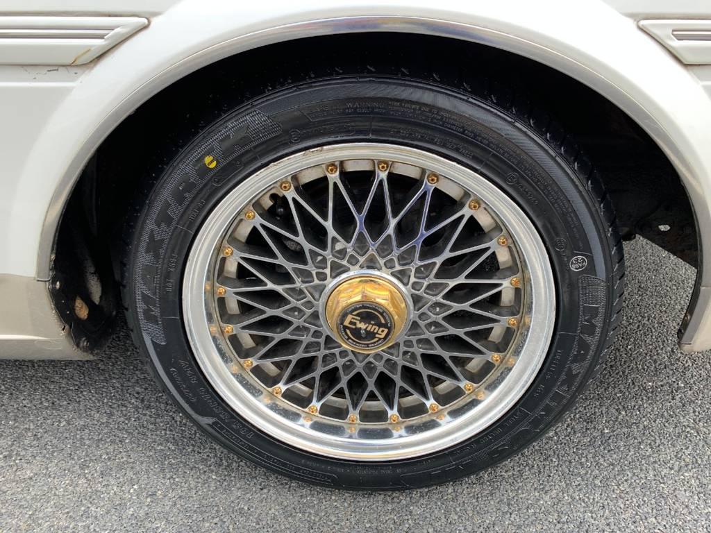 当時物Ewing15インチに新品タイヤ