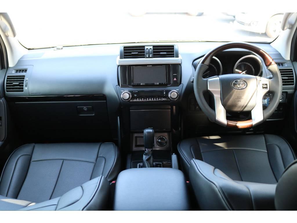 カロッツェリアSDナビやETC・ブラックシートカバー・ウッドコンビハンドルなどカスタムの参考になるアイテム満載! | トヨタ ランドクルーザープラド 2.7 TX 4WD 20インチAW 2UP 試乗車