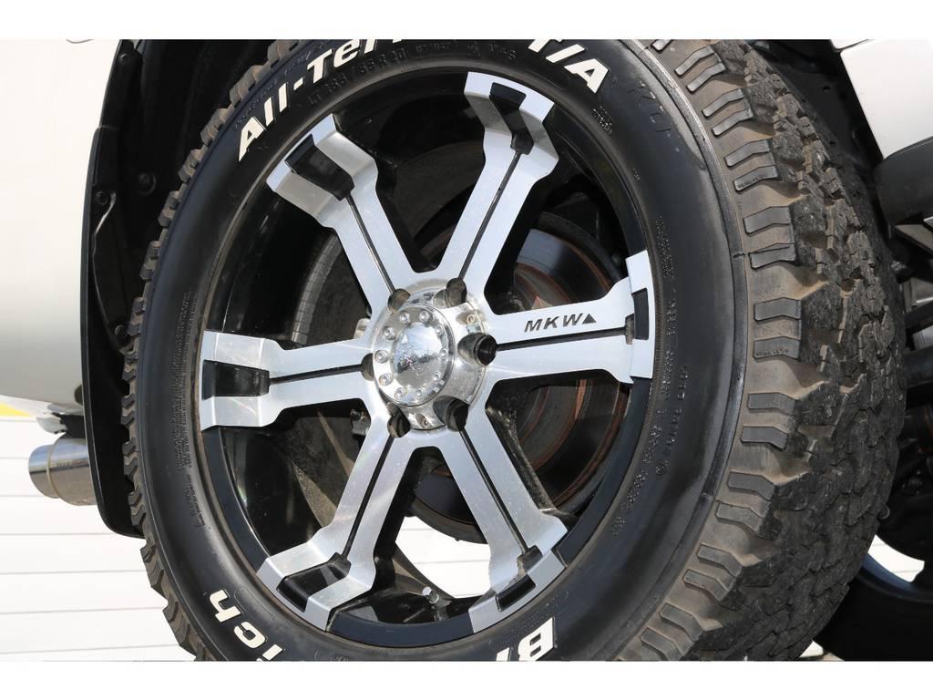MKW20インチホイールにBFオールテレンタイヤで乗り心地も確かめられます! | トヨタ ランドクルーザープラド 2.7 TX 4WD 20インチAW 2UP 試乗車