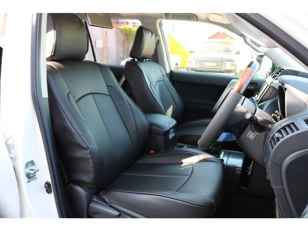 もちろん新品でシートバーをインストールいたしましたので座り心地なども確かめれます! | トヨタ ランドクルーザープラド 2.7 TX 4WD 20インチAW 2UP 試乗車