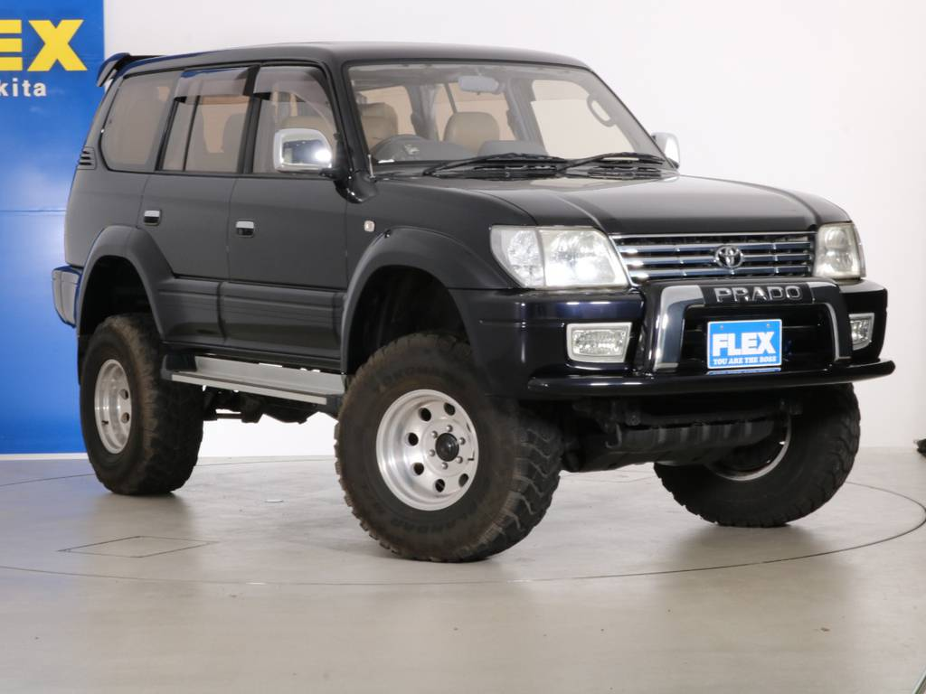 各種任意保険、オートローンも扱っておりますのでお気軽にご相談ください。 | トヨタ ランドクルーザープラド 3.4 TZ 4WD 6インチUP シートカバー