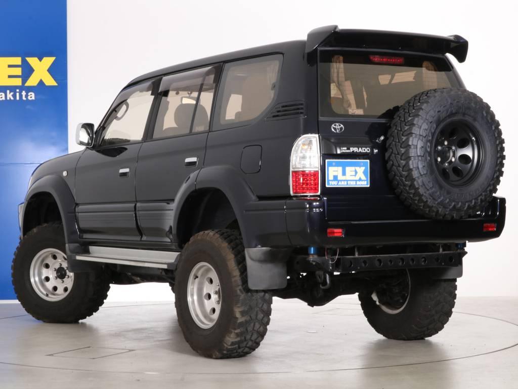 NEWペイント済みですのでボディもグッドコンディション! | トヨタ ランドクルーザープラド 3.4 TZ 4WD 6インチUP シートカバー