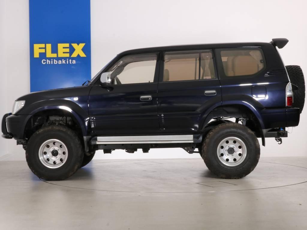 運転しやすいドライビングシート | トヨタ ランドクルーザープラド 3.4 TZ 4WD 6インチUP シートカバー