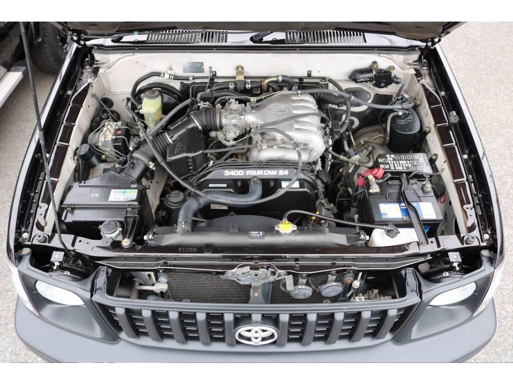 店舗敷地内に工場完備ですので車検から整備までお任せください。 | トヨタ ランドクルーザープラド 3.4 TX 4WD 丸目 ナロー仕様