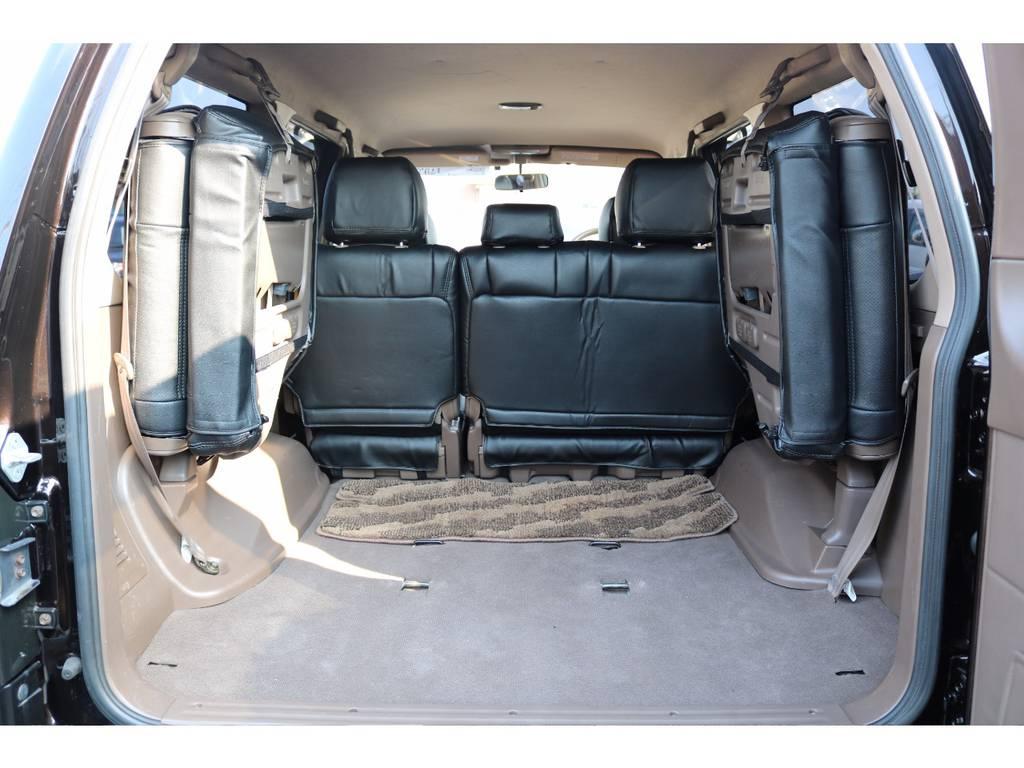 広々したラゲッジルーム!大容量でキャンプ用品なども沢山収容できます! | トヨタ ランドクルーザープラド 3.4 TX 4WD 丸目 ナロー仕様