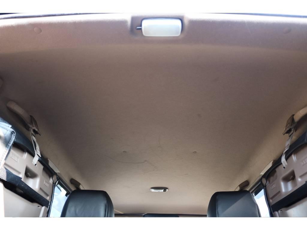 広々した天井!大きなキズやへたりも無く天張りもグッドコンディション! | トヨタ ランドクルーザープラド 3.4 TX 4WD 丸目 ナロー仕様
