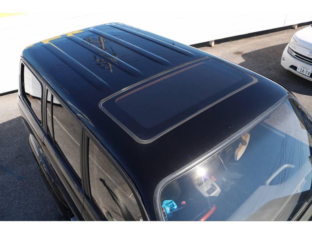 ルーフの状態も良好です! | トヨタ ランドクルーザー80 4.5 VXリミテッド 4WD 輸出用角目四灯 3インチUP