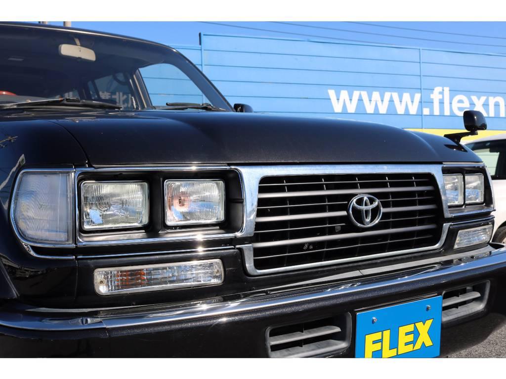 フロントフェイス一新 | トヨタ ランドクルーザー80 4.5 VXリミテッド 4WD 輸出用角目四灯 3インチUP