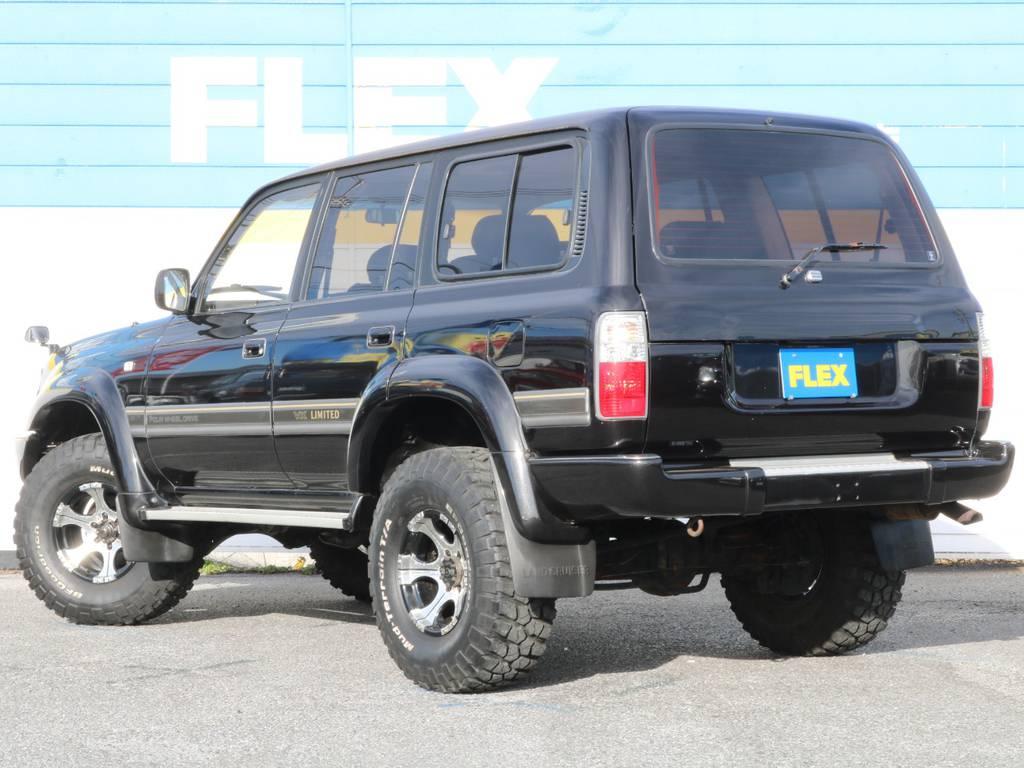 ブラックで統一された1台の完成です! | トヨタ ランドクルーザー80 4.5 VXリミテッド 4WD 輸出用角目四灯 3インチUP