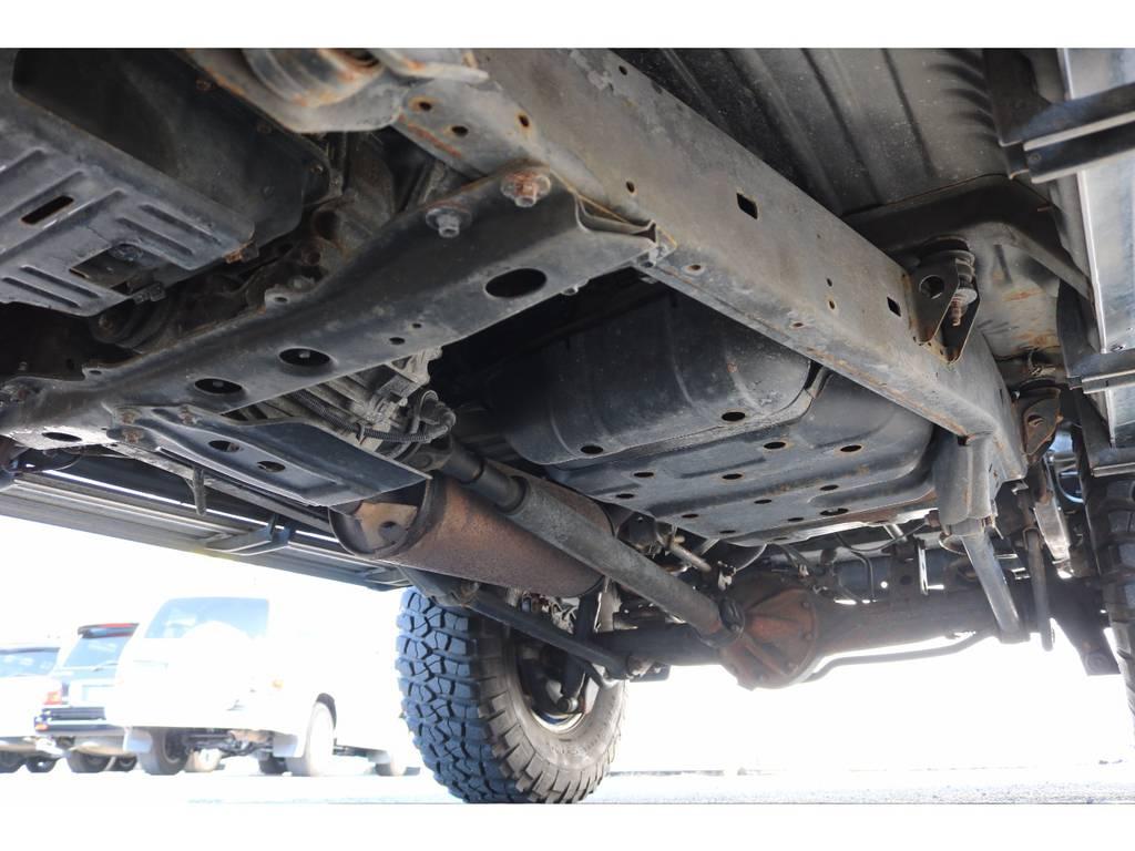ご納車前に高圧洗浄後、防腐パスター仕上げ致します。 | トヨタ ランドクルーザー80 4.5 VXリミテッド 4WD 輸出用角目四灯 3インチUP