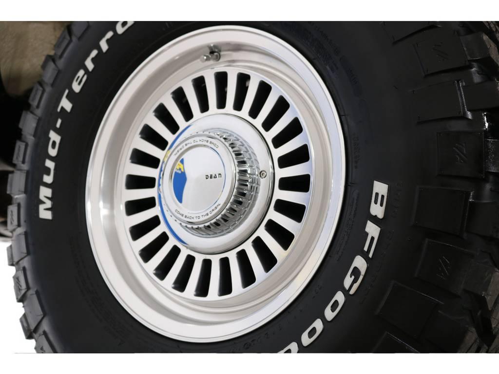 新品DEANカルフォルニア16インチホイール&新品BFグッドリッチMTタイヤを装着致しました! | トヨタ ランドクルーザー80 4.5 VXリミテッド 4WD 『86』 丸目 60フェイス