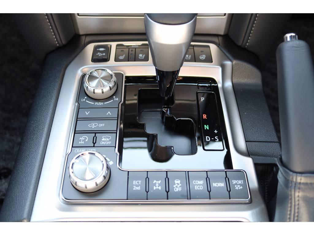 シートエアコンも付いているので快適ドライブ | トヨタ ランドクルーザー200 4.6 ZX 4WD 新車未登録車 純正マルチ