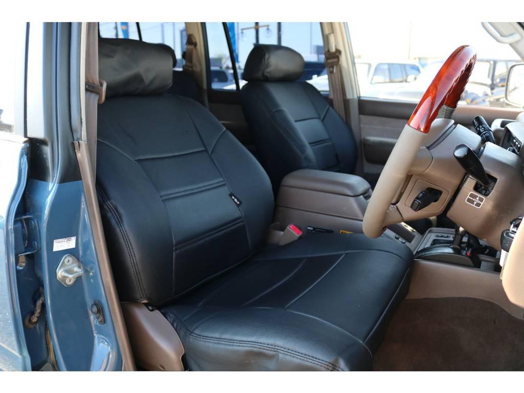 新品シートカバーですので新たな気持ちで乗れます☆ | トヨタ ランドクルーザー80 4.5 VXリミテッド 4WD ナロー仕様 5インチUP