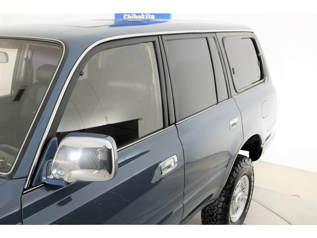 メッキミラーにメッキモール、メッキアウターハンドル☆ | トヨタ ランドクルーザー80 4.5 VXリミテッド 4WD 86 HDDナビ シートカバー