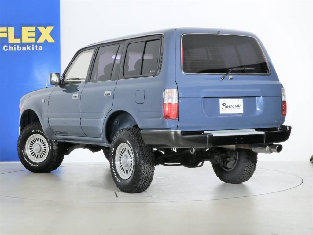 リアバンパーはガンメタ塗装☆ | トヨタ ランドクルーザー80 4.5 VXリミテッド 4WD 86 HDDナビ シートカバー