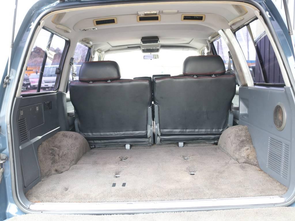荷室は広くアウトドアやスポーツに役立ちます☆ | トヨタ ランドクルーザー80 4.5 VXリミテッド 4WD 86 HDDナビ シートカバー