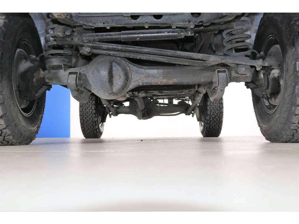 下回りは防錆塗装も承ります☆ | トヨタ ランドクルーザー80 4.5 VXリミテッド 4WD 86 HDDナビ シートカバー