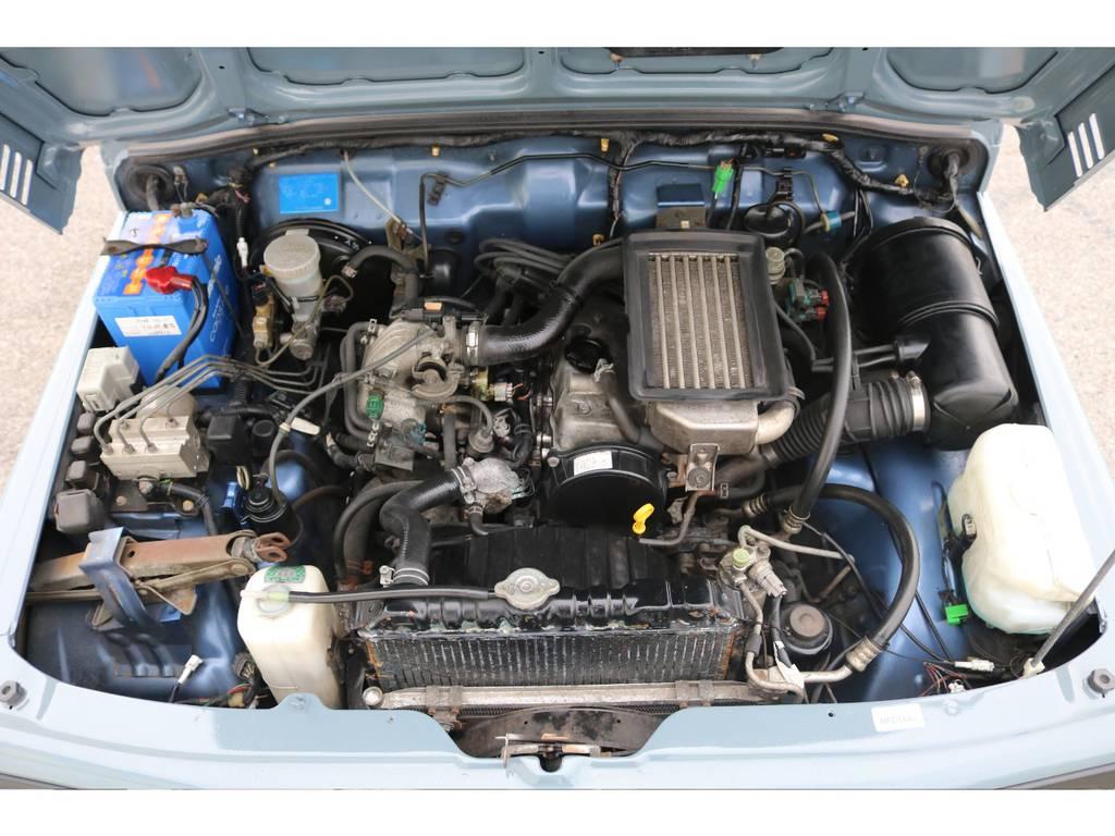 エンジンルームも清掃済みですので綺麗になっております☆ | スズキ ジムニー 660 XL 4WD オートマ DEANホイール